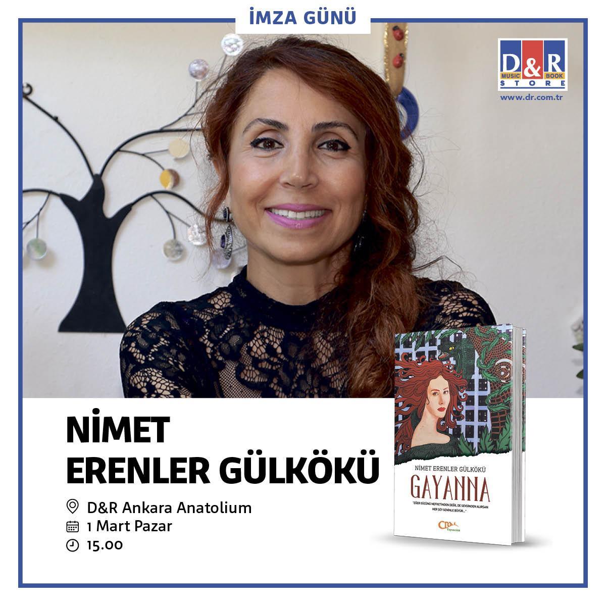 Nimet Erenler Gülkökü Ankara Anatolium Alışveriş Merkezi'nde okuyucularıyla buluşuyor