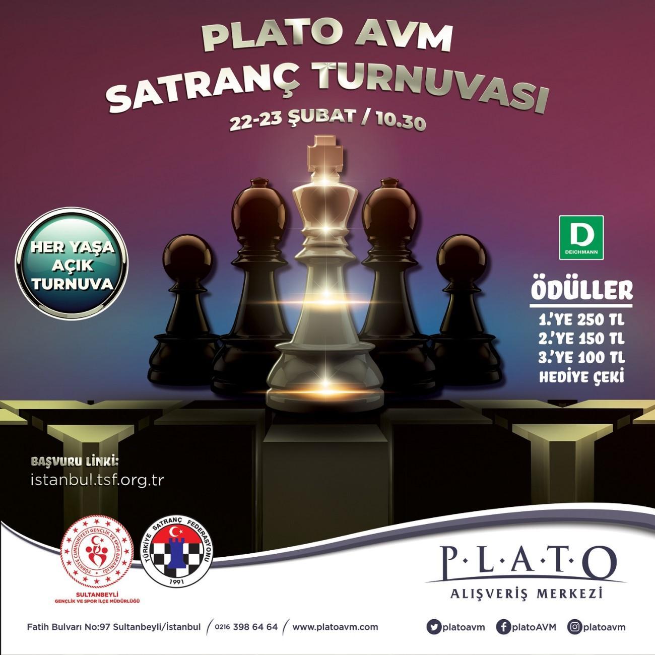 Satranç turnuvalarının adresi Plato AVM