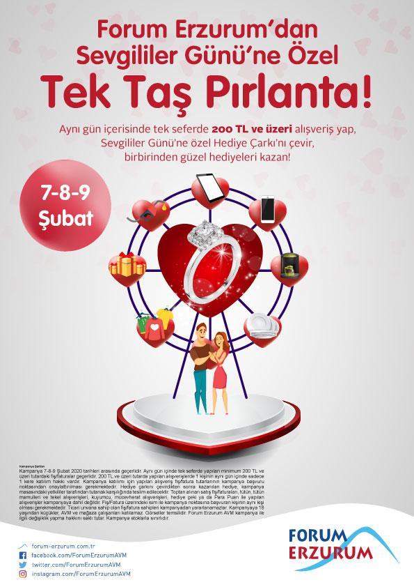 Forum Erzurum'da Sevgililer Günü sürprizleri