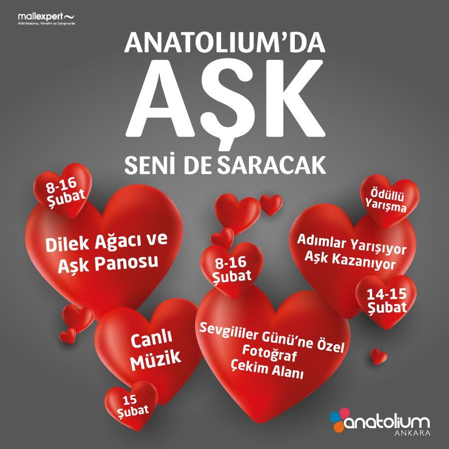 Anatolium Ankara Sevgililer Günü'ne hazır
