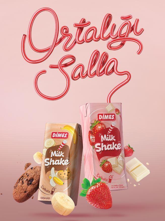 DİMES Milkshake hayatın eğlenceli anlarına eşlik ediyor
