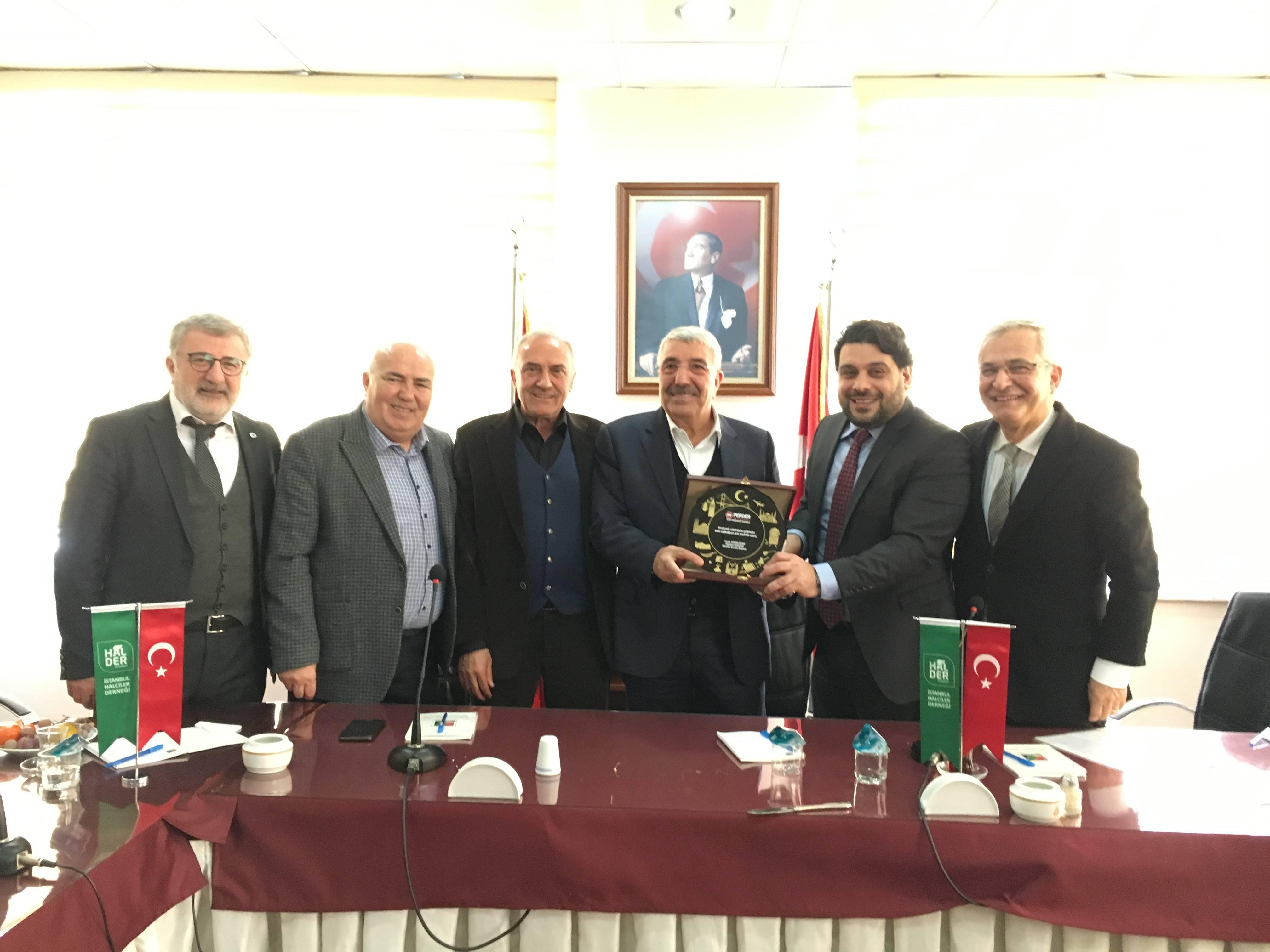 İstanbul PERDER HALDER yöneticileriyle bir araya geldi