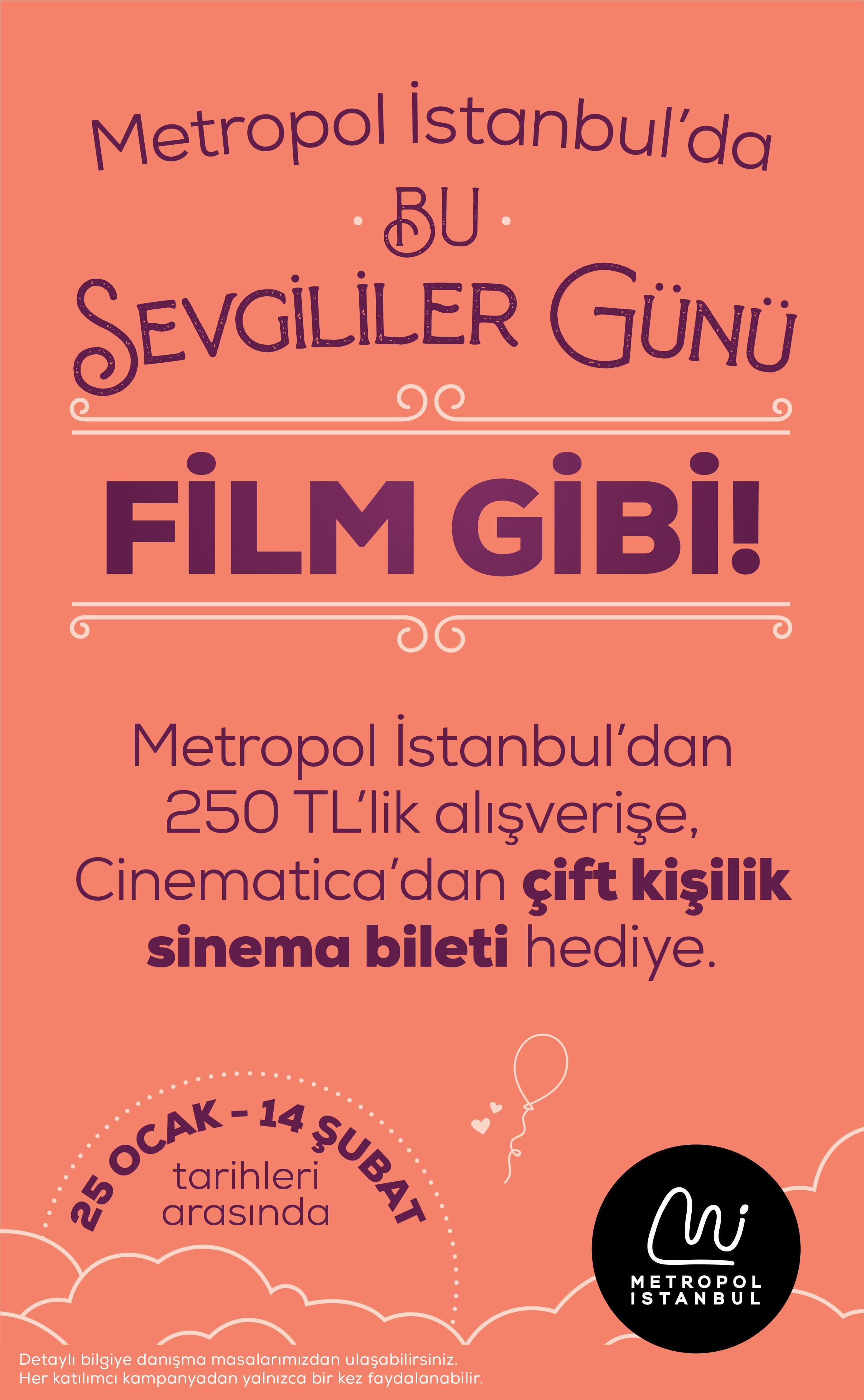 Sevgililer Günü Metropol İstanbul'da bambaşka