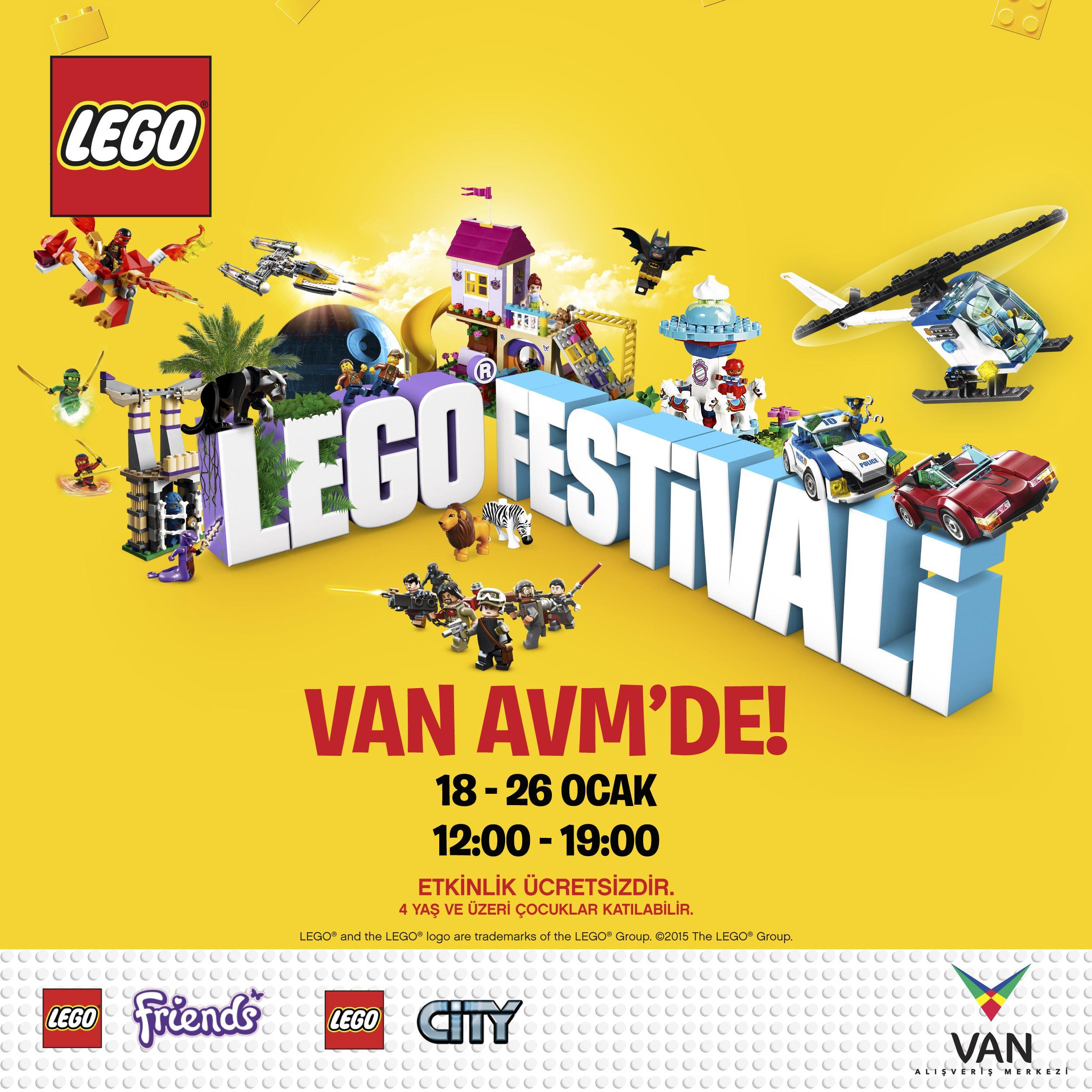 Van AVM sömestre tatilinde LEGO® Festivali ile eğlenceyi ikiye katlayacak