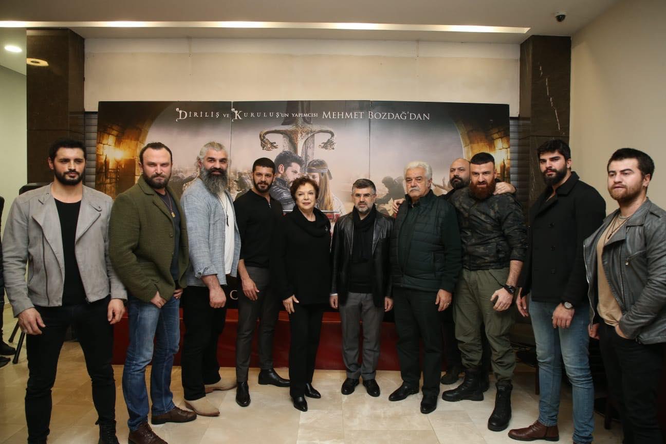 """""""Türkler Geliyor"""" filminin oyunculu gösterimi Plato AVM'de gerçekleşti"""
