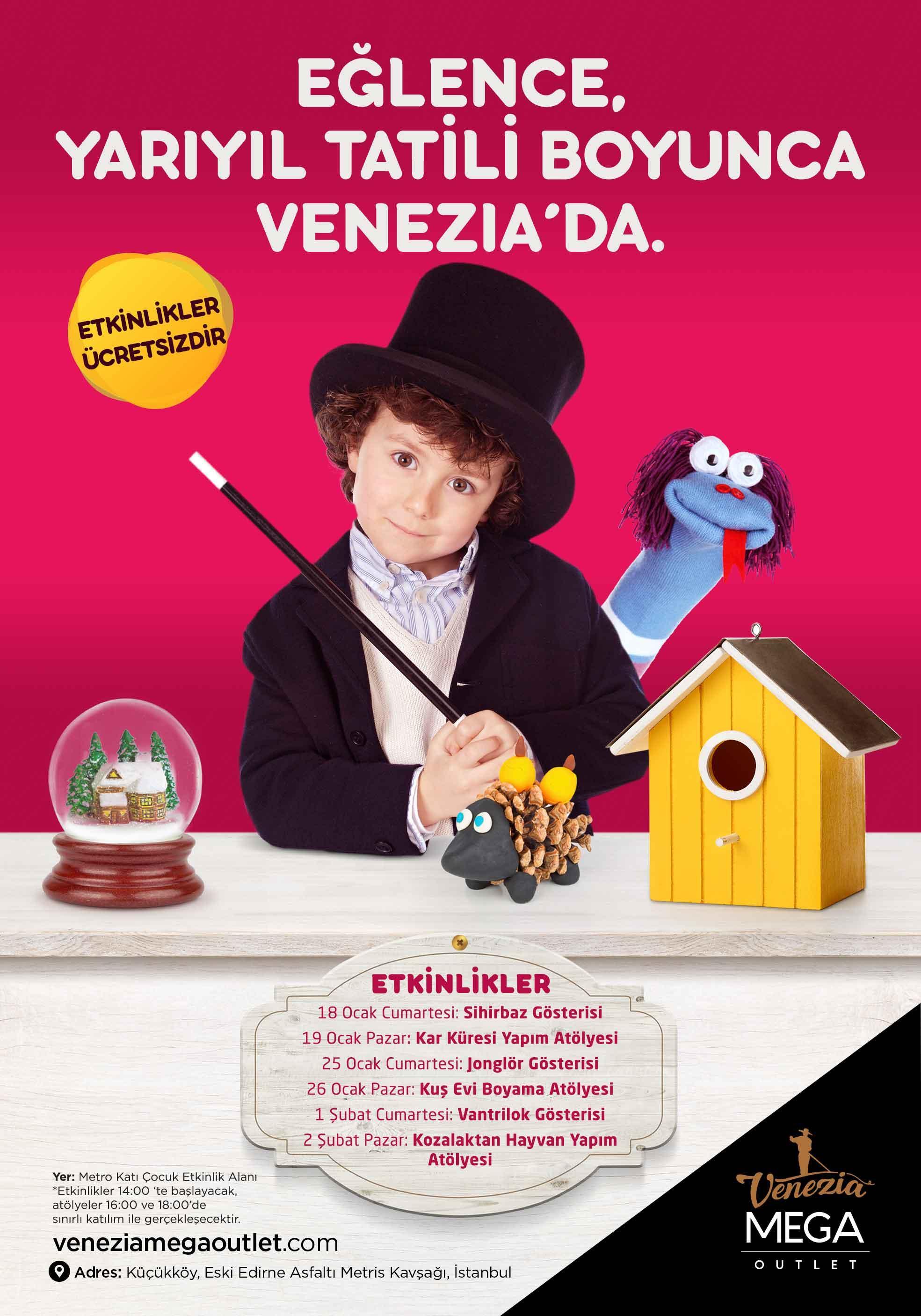 En eğlenceli sömestr etkinlikleri  Venezia Mega Outlet'te