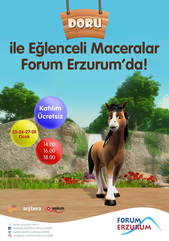 Doru ve Dostlarının maceraları Forum Erzurum'da