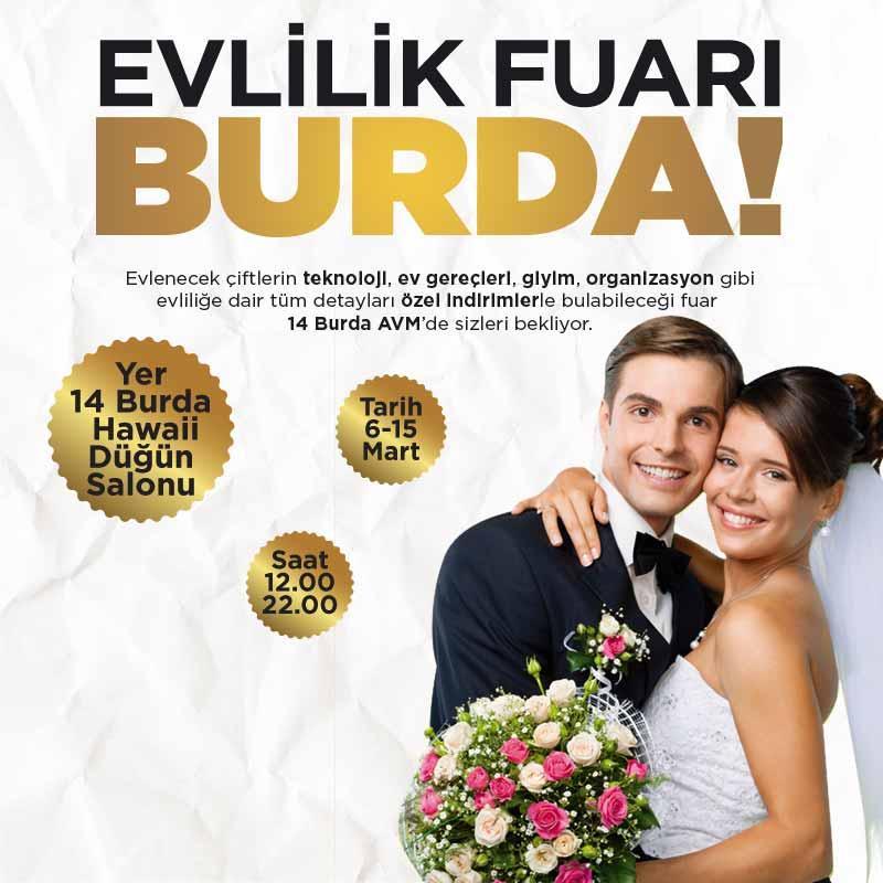 Evlilik Fuarı 14 Burda AVM'de