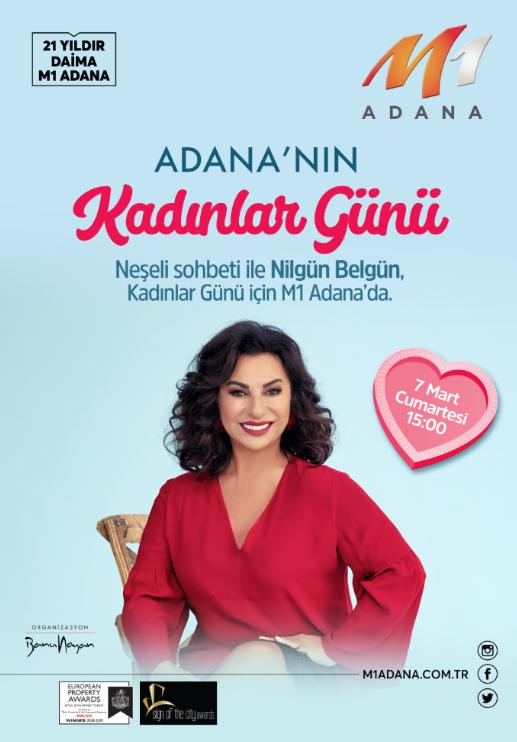 M1 Adana'da Nilgün Belgün ile Kadınlar Günü buluşması