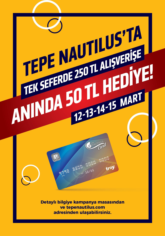 Kazandıran alışveriş Tepe Nautilus'ta