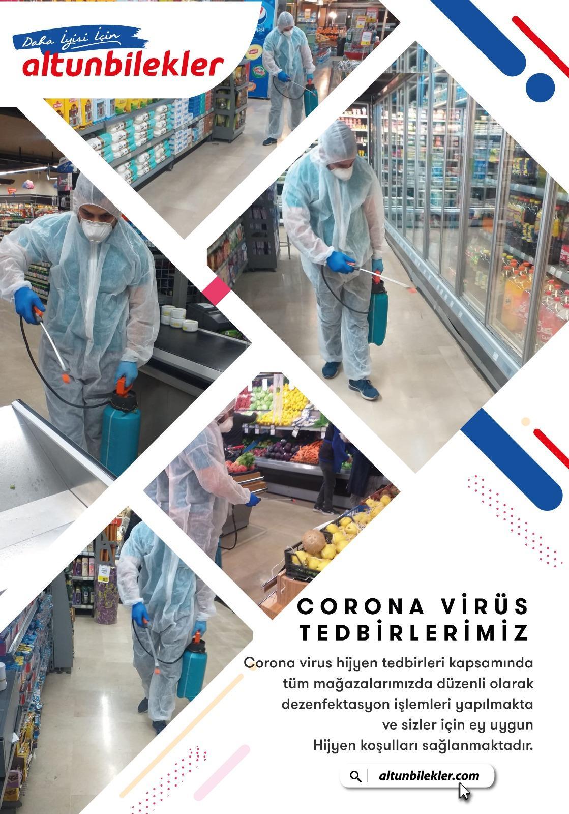 Altunbilekler 'de koronavirüs önlemleri