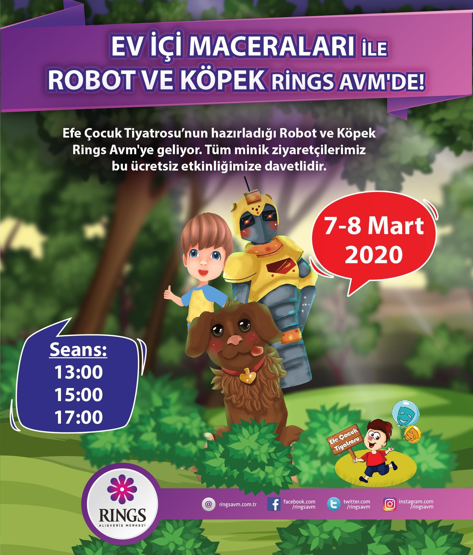Robot ile Köpek Rings AVM'ye geliyor