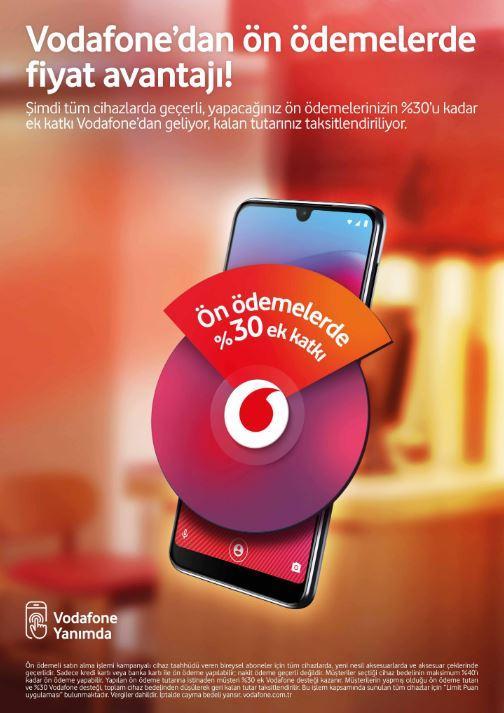 Vodafone'dan ci̇haz ön ödemeleri̇nde %30 destek