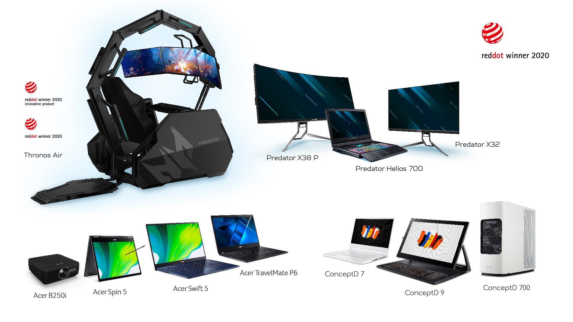 Acer, 12 adet 2020 Red Dot ödülünün sahibi oldu