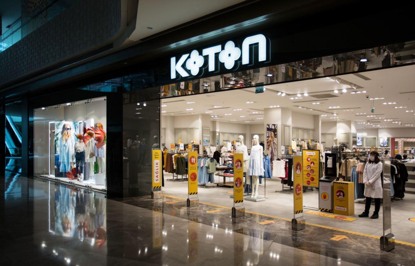 Koton'dan ''geniş alanda güvenli alışveriş'' imkanı